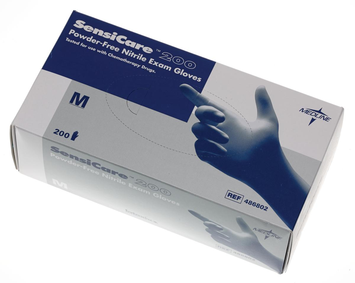 Image for the Glove Exam Nitrile Sensicare Blue product