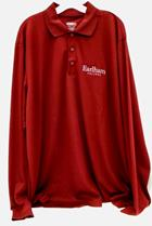 Image for the Men's Long Sleeve Performance Pique Polo Burgundy product