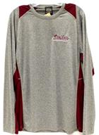Image for the Long Sleeve Wick Panel T Embroidered Heather/Maroon product