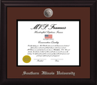 Image for the MVP® SIU Frame Black Satin Silver Medallion Diploma Frame product