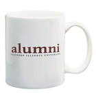 Image for the SIU ALUMNI WHITE COFFEE MUG WITH PAW product