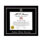 Image for the MVP® SIU Black With Satin Silver Diploma Frame product