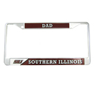 Image for the MCM® SOUTHERN ILLINOIS DAD CHROME LICENSE PLATE FRAME product