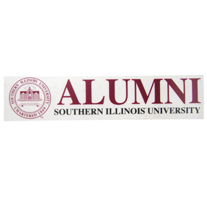 Image for the SPIRIT® SOUTHERN ILLINOIS UNIVERSITY ALUMNI SEAL STATIC CLING DECAL  product
