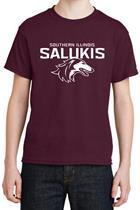 Image for the NEW 2019 ATHLETIC MAROON YOUTH LOGO SOUTHERN ILLINOIS SALUKIS SHORT SLEEVE SHIRT  product