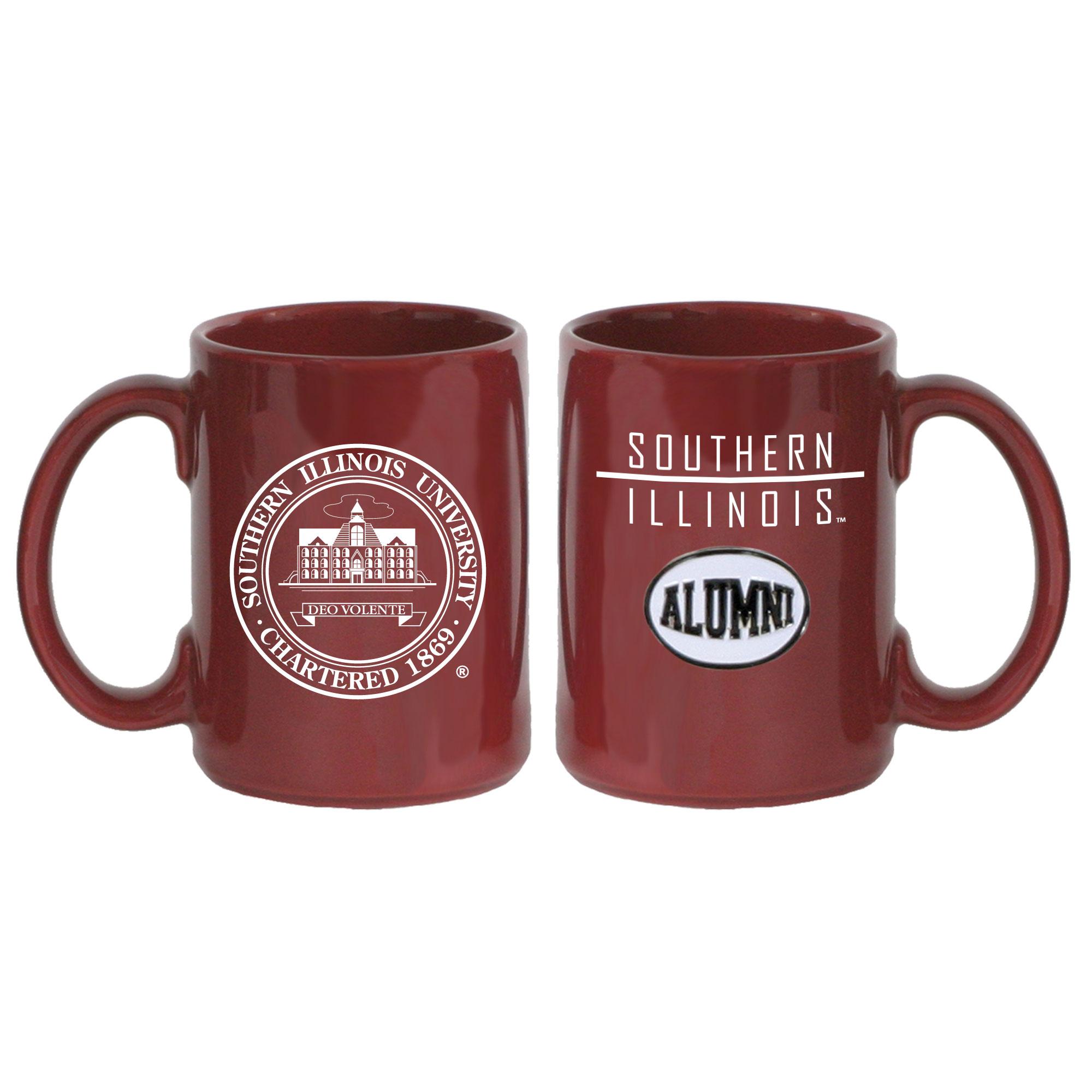 Image for the SPIRIT® SOUTHERN ILLINOIS UNIVERSITY SEAL ALUMNI MEDALLION MAROON COFFEE MUG product