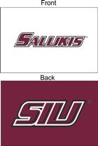 Image for the SEWING CONCEPTS® 2X3' TWO-SIDED WHITE & MAROON SIU SALUKIS GROMMETED FLAG product