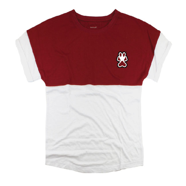 Image for the BOXERCRAFT® SOUTHERN ILLINOIS SALUKI PAW PRINT LIGHTWEIGHT SHIRT product