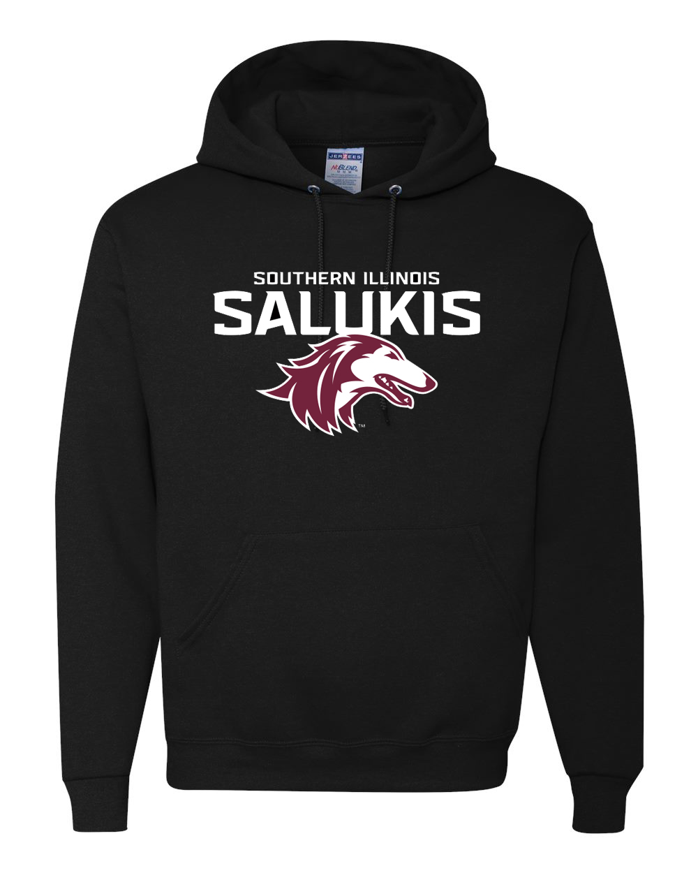 Image for the NEW BLACK 2019 ATHLETIC LOGO SOUTHERN ILLINOIS SALUKIS HOOD product