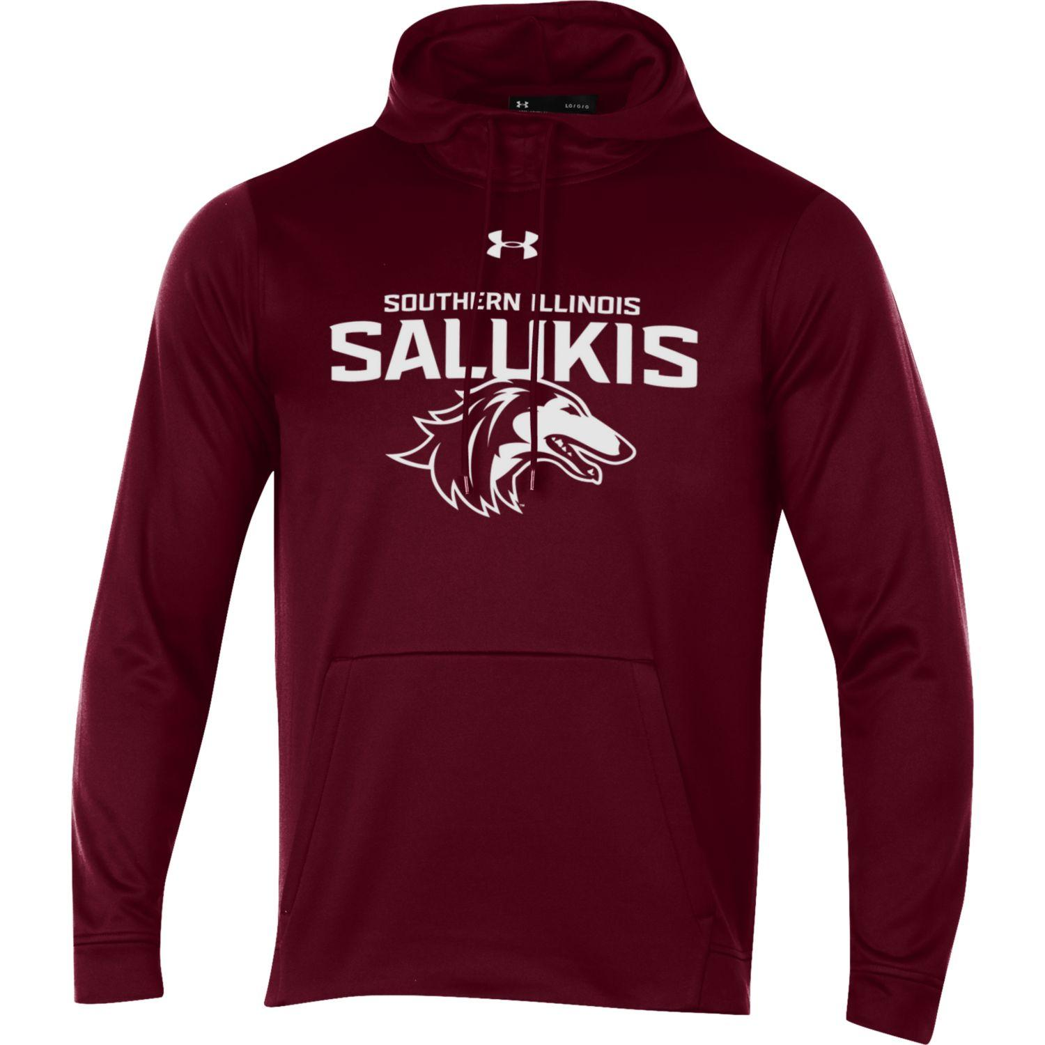Image for the NEW 2019 ATHLETIC LOGO SOUTHERN ILLINOIS SALUKIS UNDER ARMOUR HOOD product