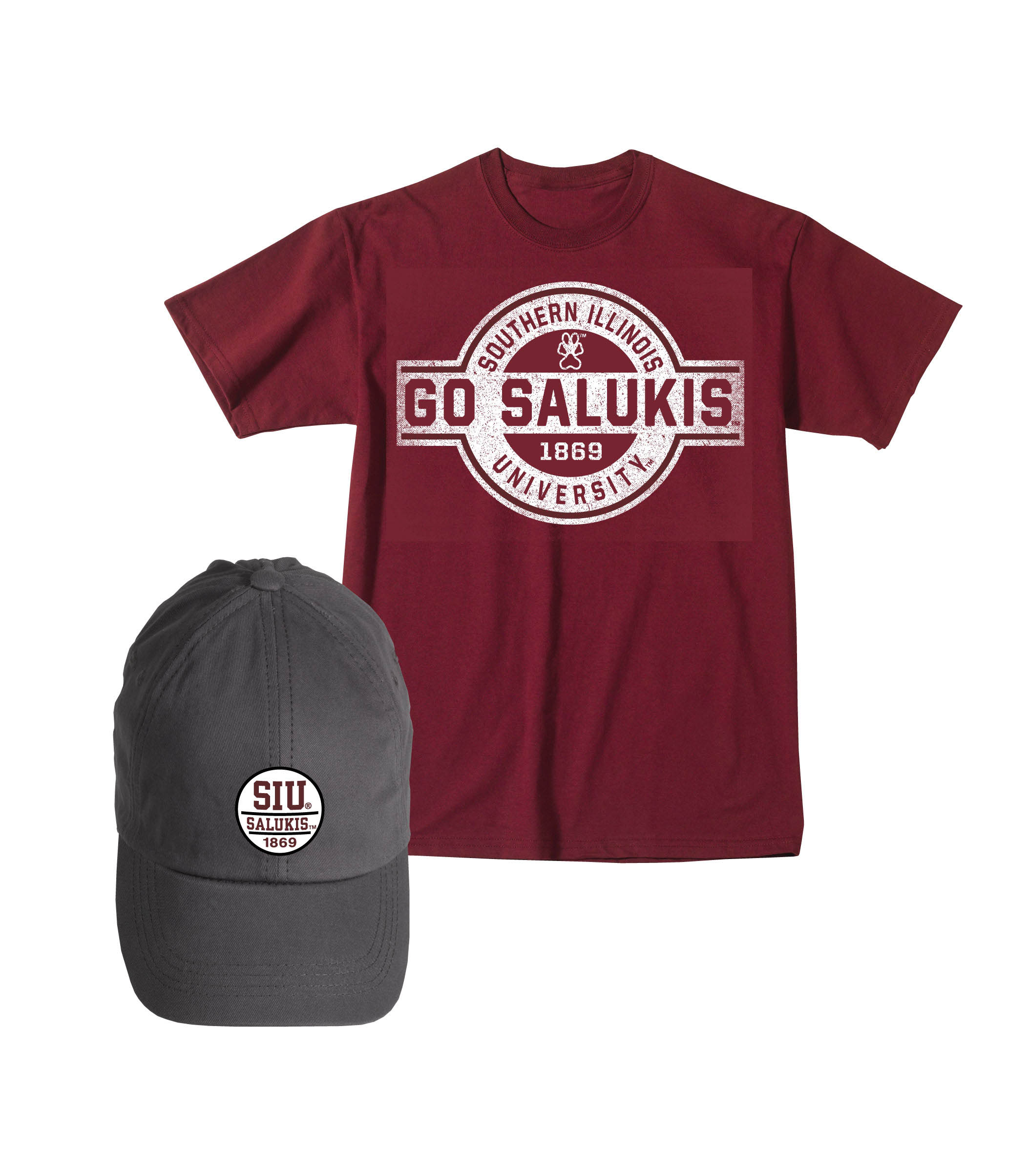 Image for the MV SPORT™ SALUKIS PREMIUM T-SHIRT AND HAT COMBO product
