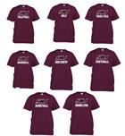 Image for the RUSSELL® SIU SPORT MAROON T - AVAILABLE IN ALL SPORTS product