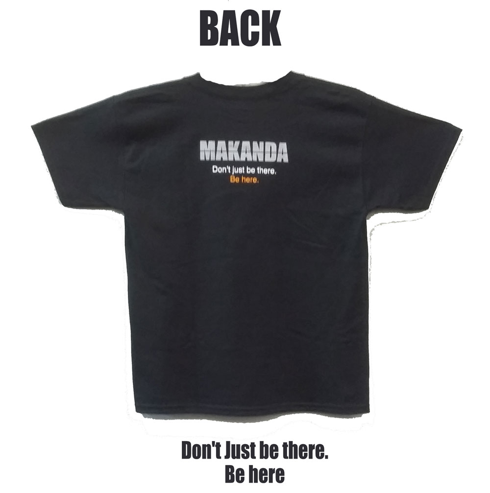 """Alternative Image for the 710 BRANDED MAKANDA ECLIPSE """"LET THERE BE DARK"""" BLACK T-SHIRT product"""