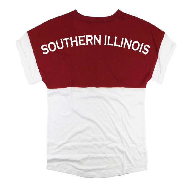 Alternative Image for the BOXERCRAFT® SOUTHERN ILLINOIS SALUKI PAW PRINT LIGHTWEIGHT SHIRT product