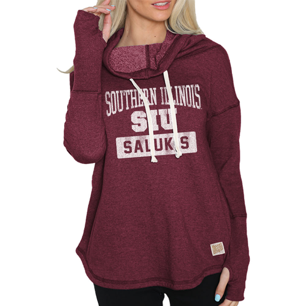 Image for the RETRO BRAND® WOMEN'S SIU FUNNEL NECK TRIBLEND FLEECE product