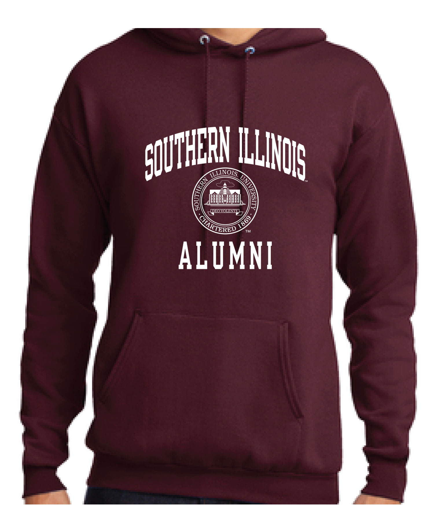 Image for the PROMO® MAROON SOUTHERN ILLINOIS ALUMNI SEAL HOOD product