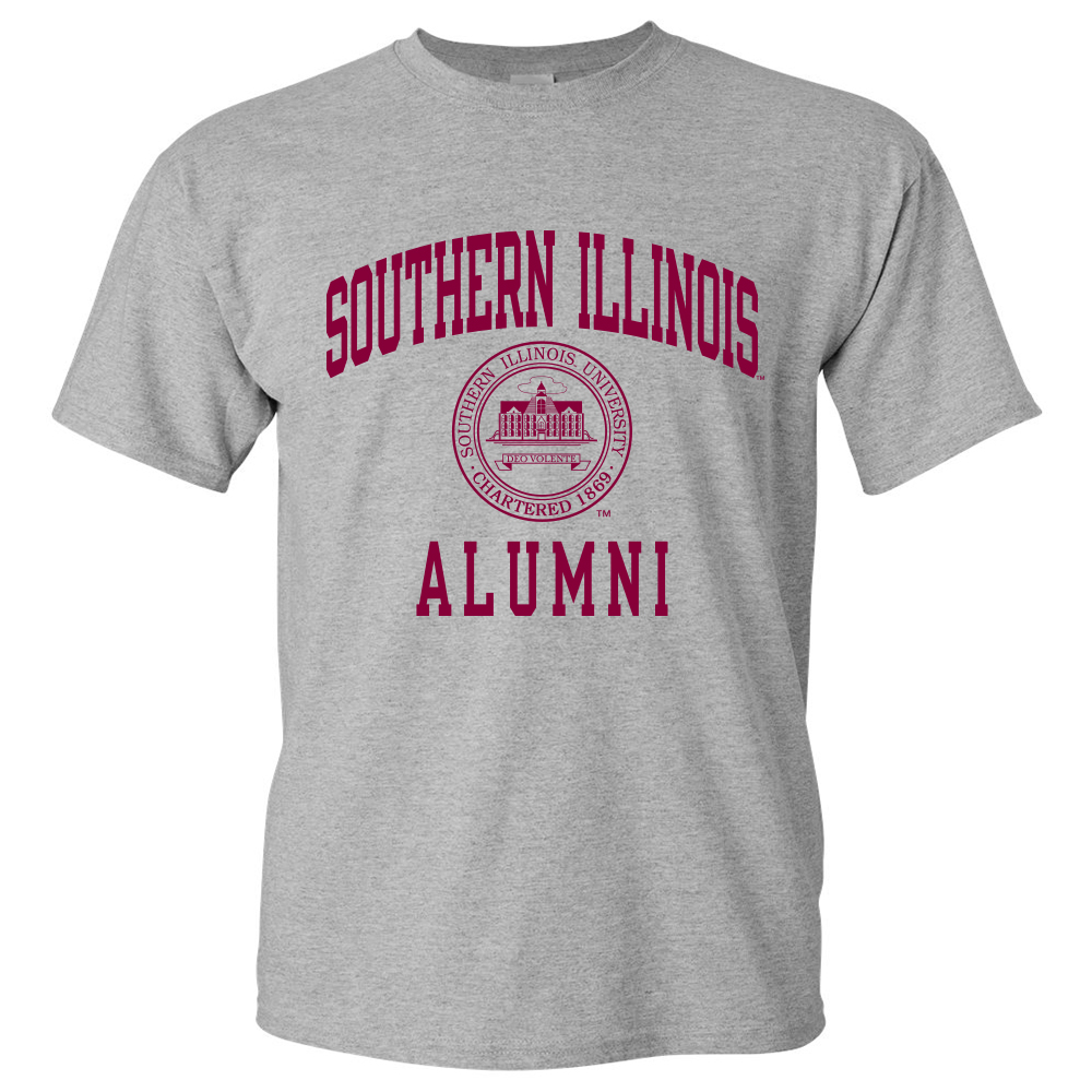Image for the PROMO® SOUTHERN ILLINOIS ALUMNI SEAL GREY T-SHIRT product
