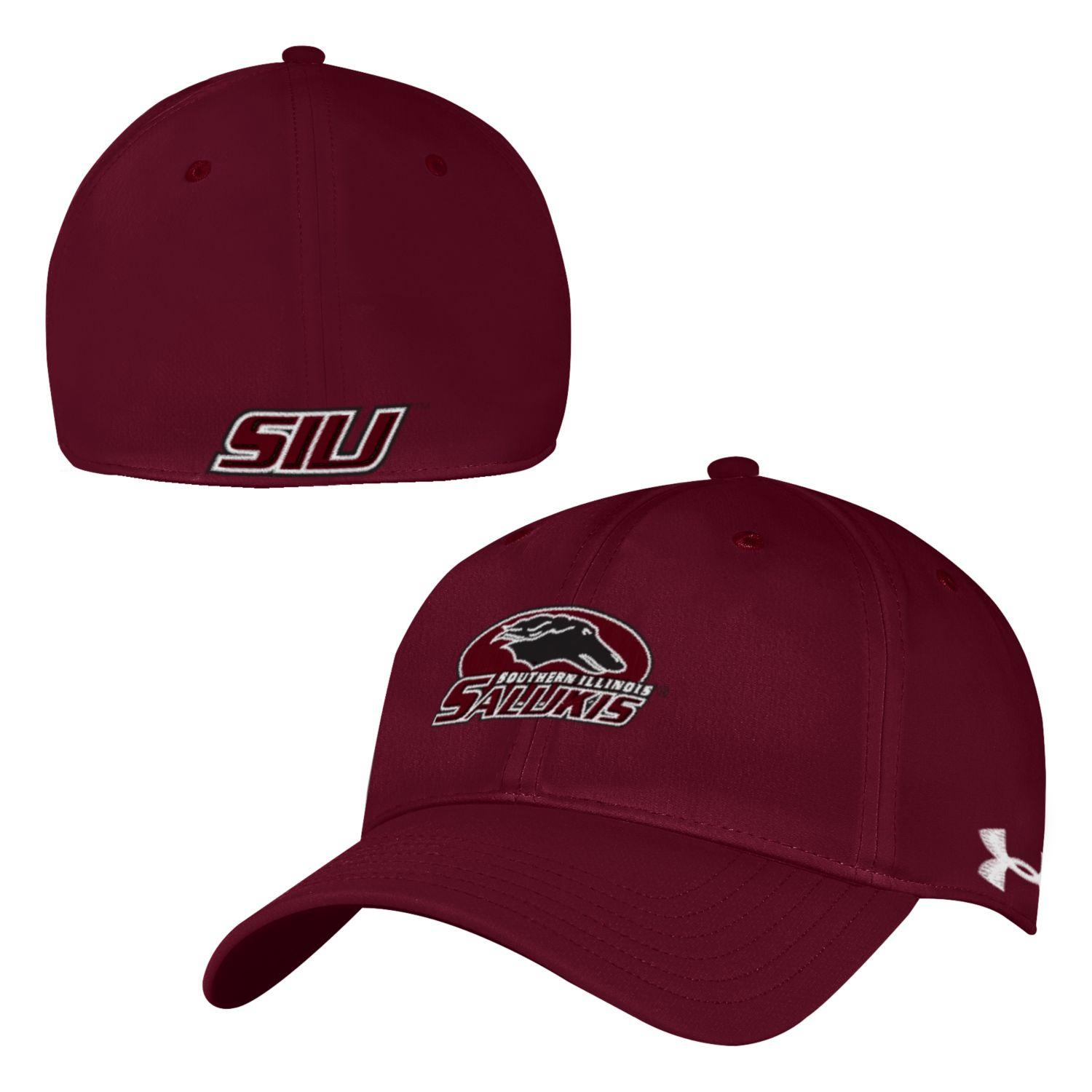 Image for the UA® SALUKIS MAROON MENS RENEGADE STRETCH FIT HAT - BLACK & MAROON AVAILABLE product