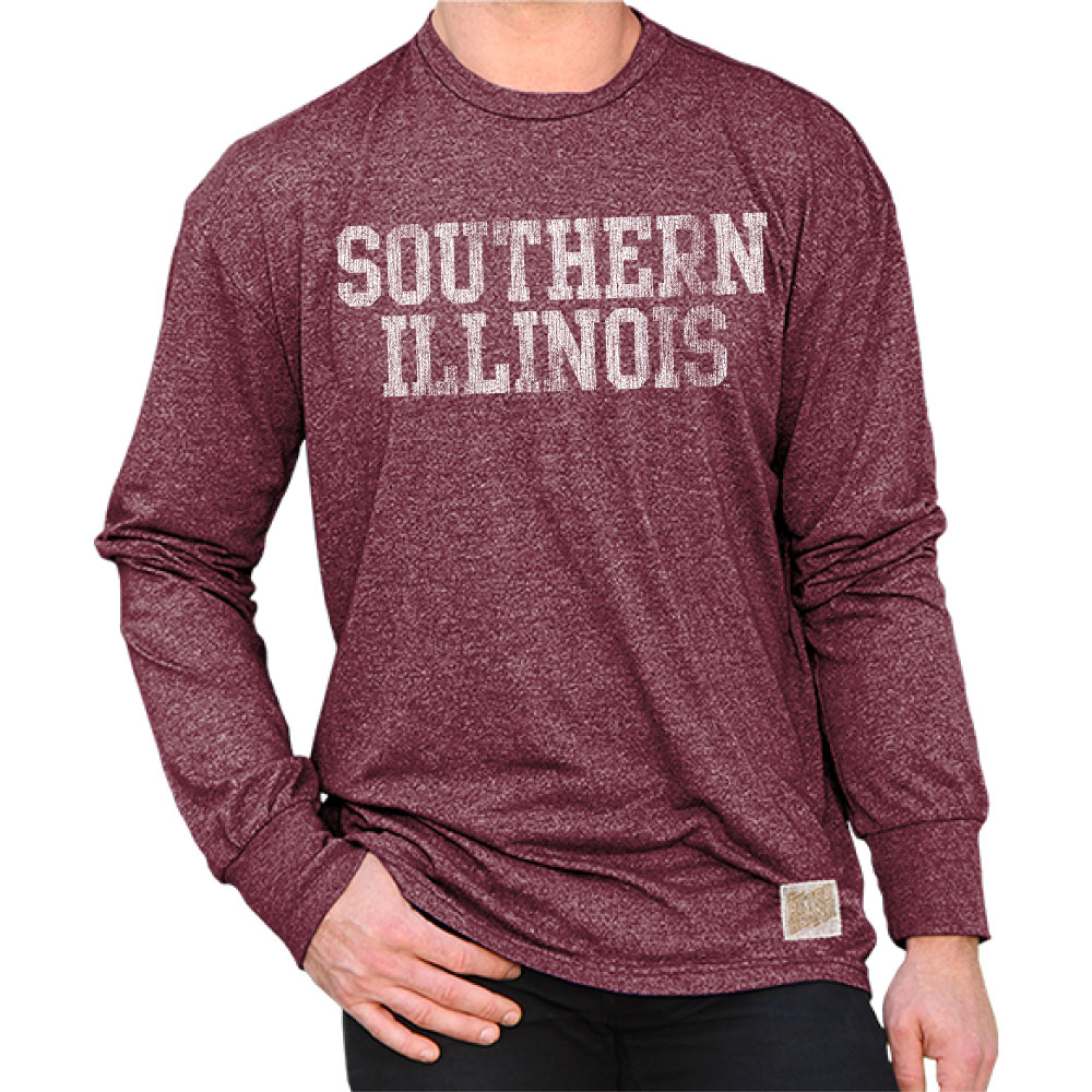Image for the RETRO BRAND® SOUTHERN ILLINOIS MOCK TWIST LONG SLEEVE TEE product
