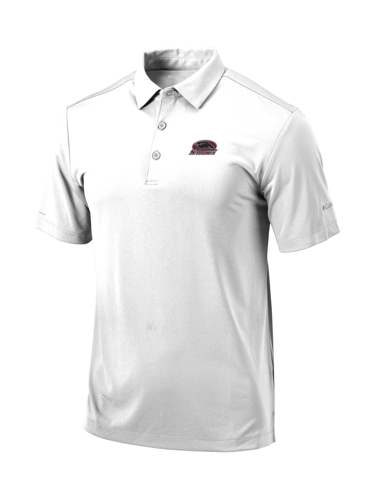 Image for the COLUMBIA® SOUTHERN ILLINOIS SALUKIS WHITE OMNI-WICK DRIVE POLO product