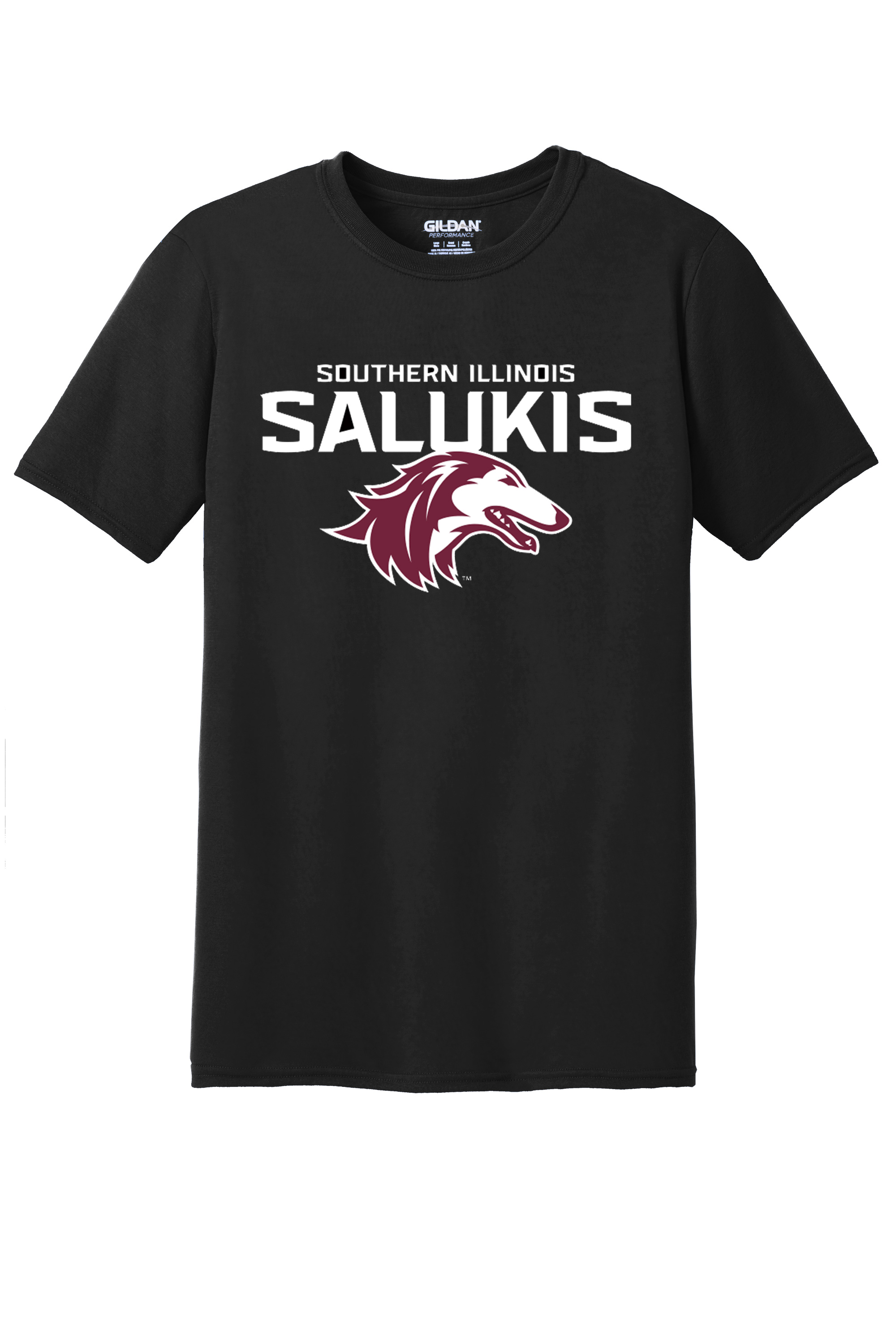 Image for the NEW LADIES BLACK 2019 ATHLETIC LOGO SOUTHERN ILLINOIS SALUKIS T-SHIRT product