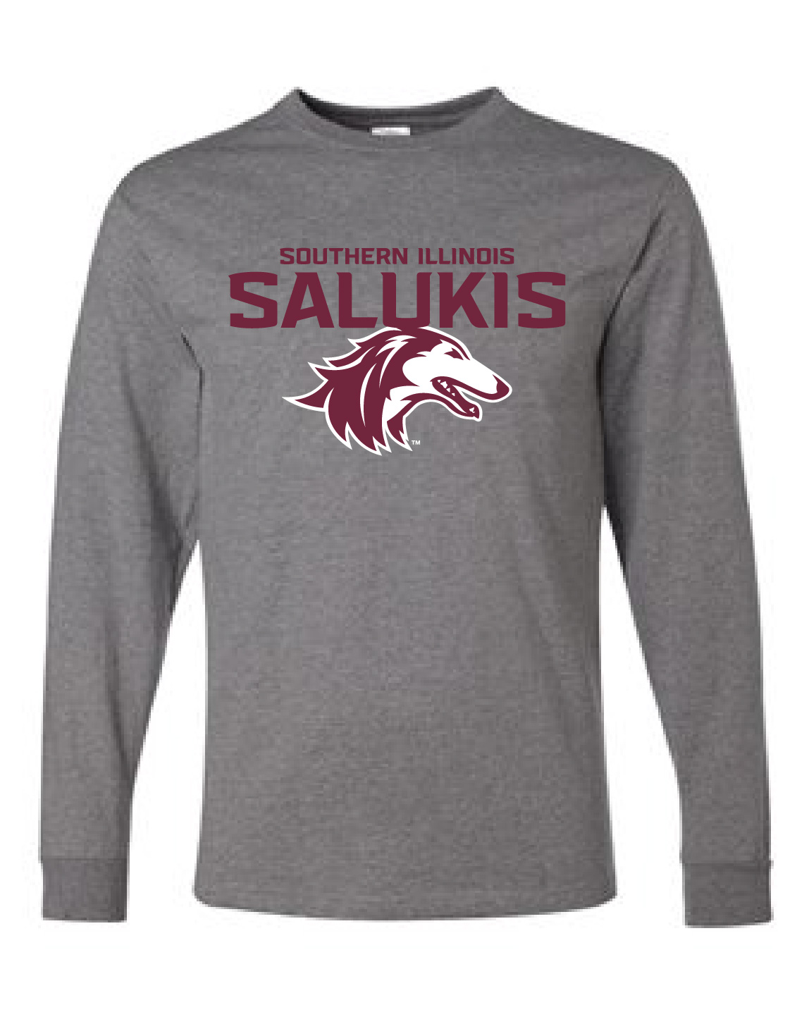 Image for the NEW 2019 ATHLETIC LOGO SOUTHERN ILLINOIS SALUKIS LONG SLEEVE T-SHIRT product