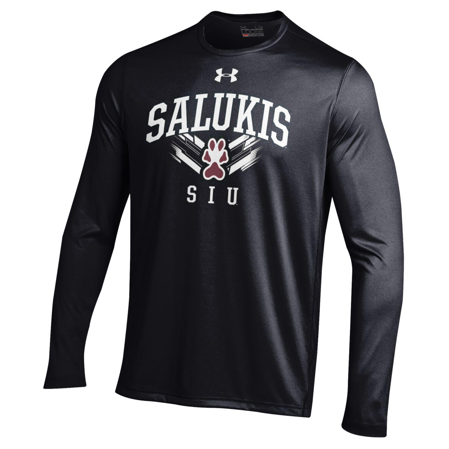 Image for the UNDER ARMOUR® SIU SALUKIS PERFORMANCE LONG SLEEVE BLACK T-SHIRT product