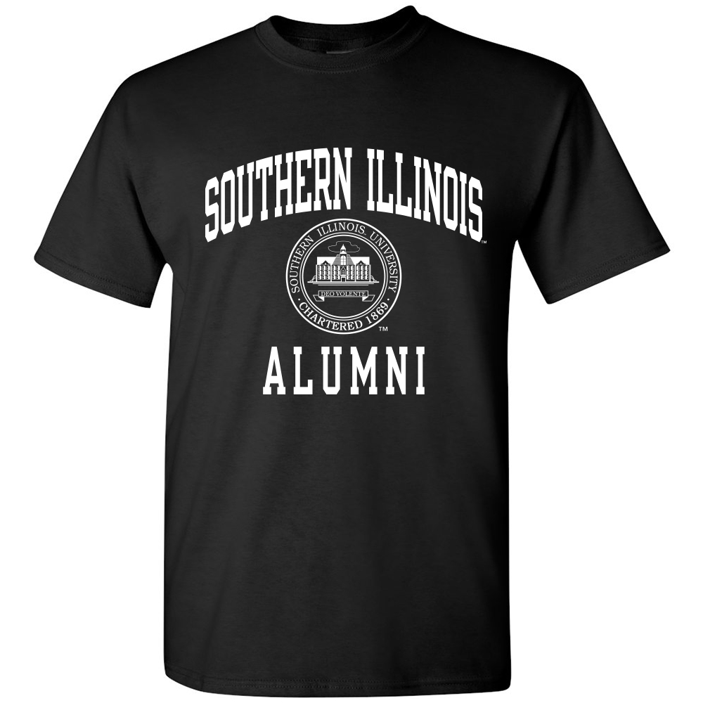 Image for the PROMO® SOUTHERN ILLINOIS ALUMNI SEAL BLACK T product