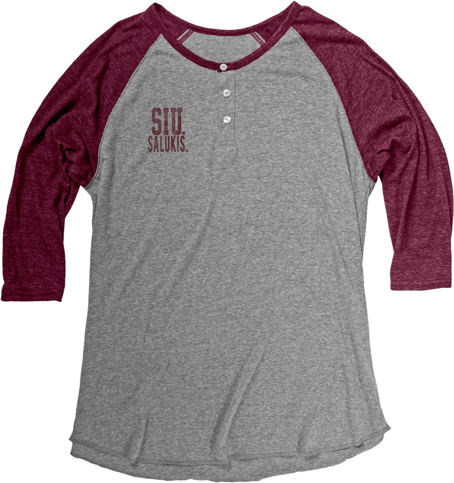 Image for the BLUE 84® SIU SALUKIS MENS TRI-BLEND HENLEY product