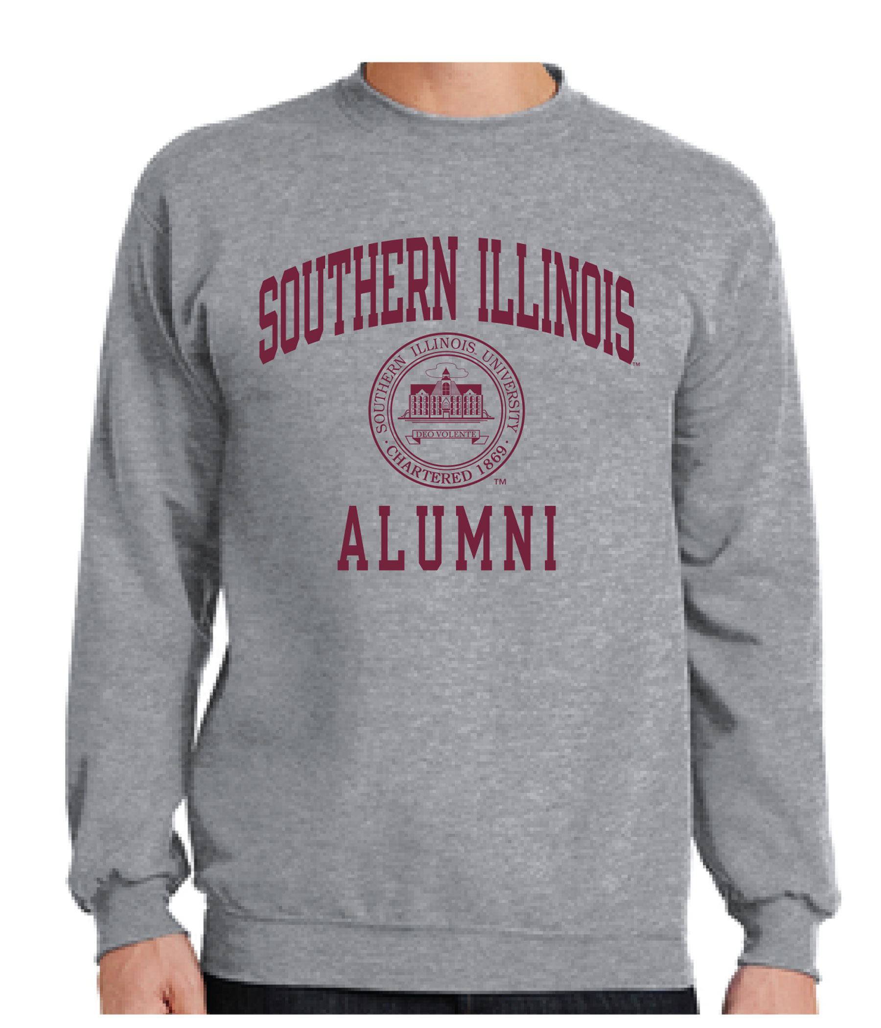 Image for the PROMO® GREY SOUTHERN ILLINOIS ALUMNI SEAL CREW product