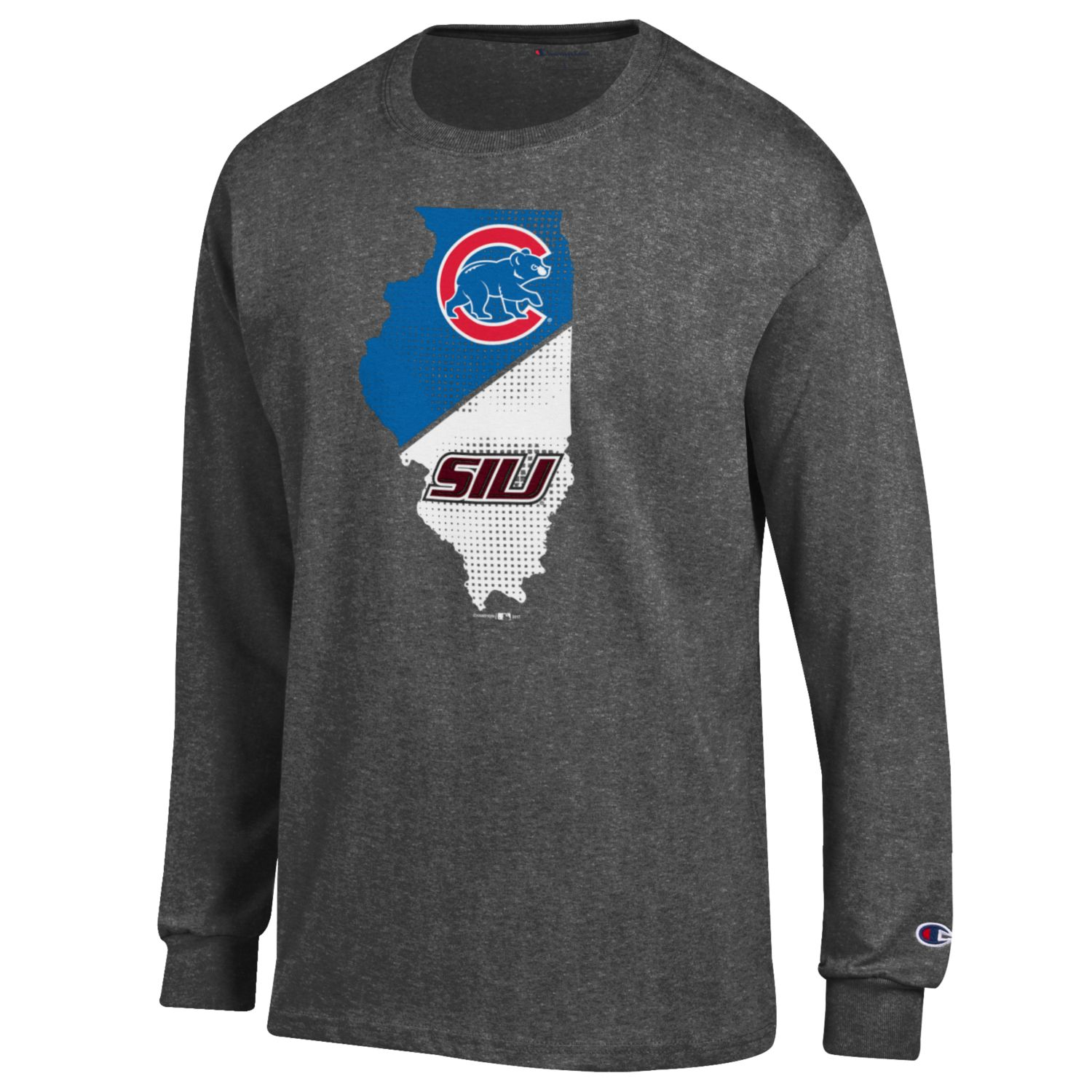 Image for the CHAMPION® SIU AND CUBS ILLINIOIS LONG SLEEVE T-SHIRT product