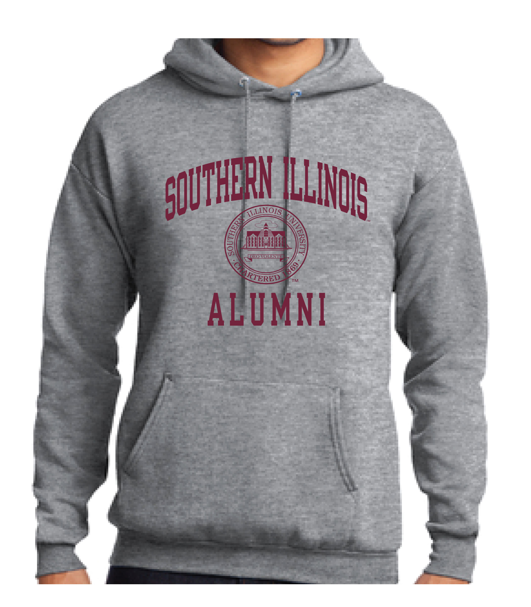 Image for the PROMO® OXFORD SOUTHERN ILLINOIS ALUMNI SEAL HOOD product