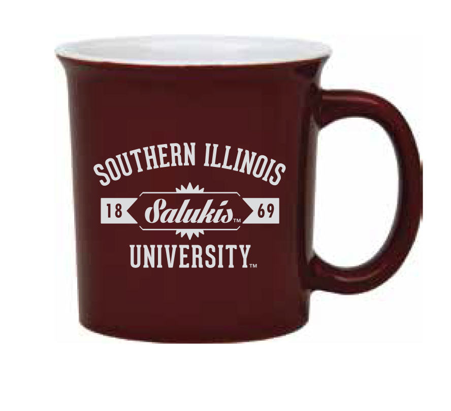 Image for the R & D SPECIALTY® SALUKIS TWO TONE MAROON/WHITE MUG product