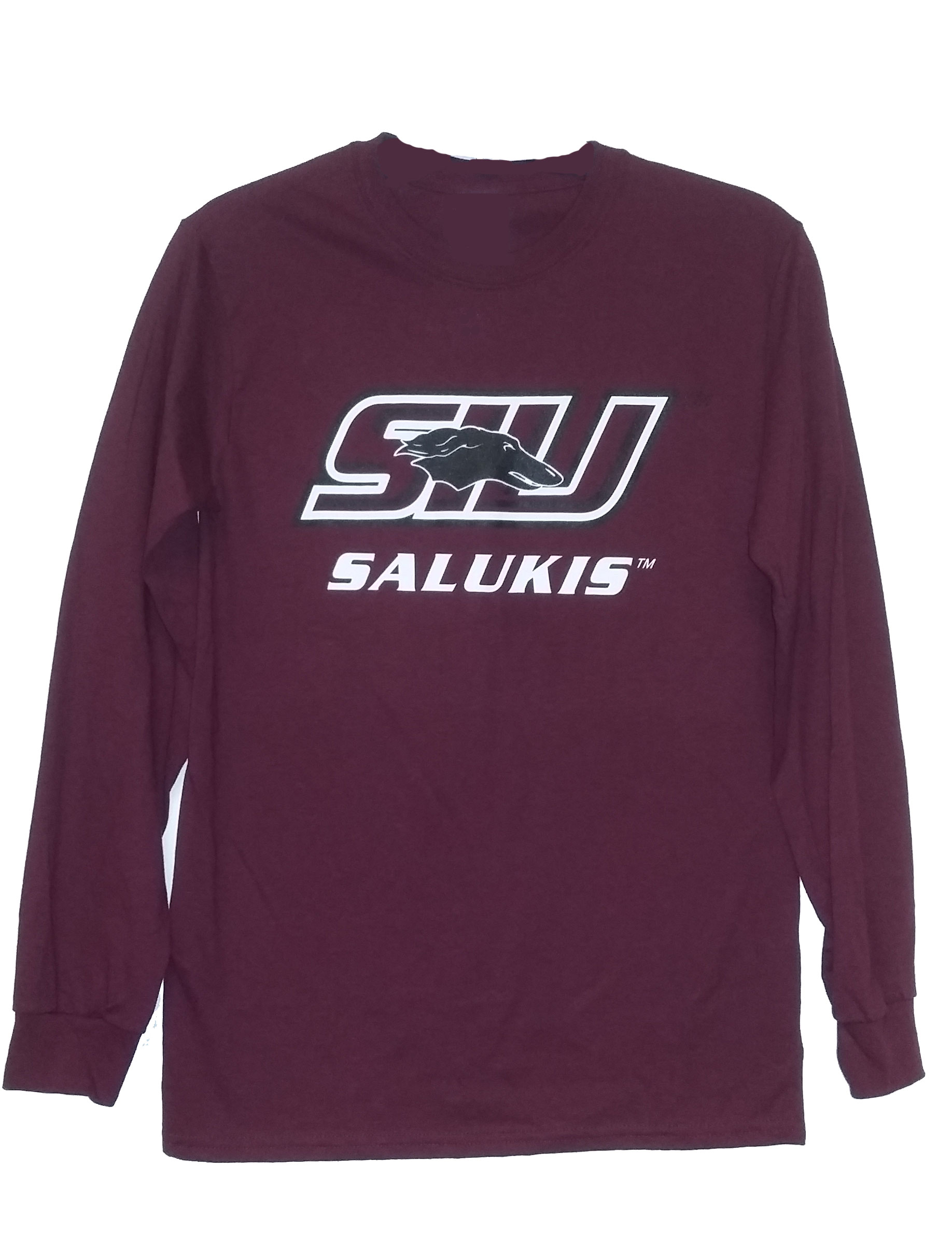Image for the PROMO® SIU SALUKIS MAROON LONG SLEEVE T-SHIRT product