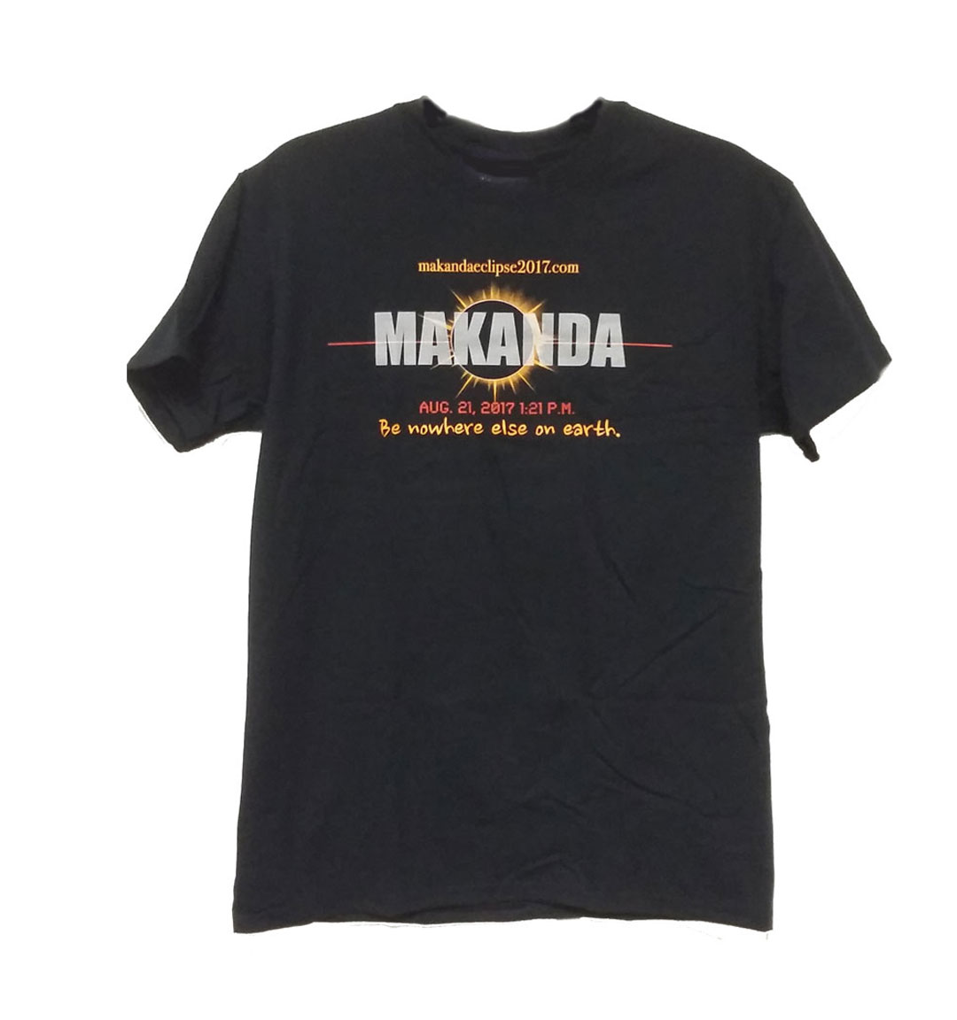 "Image for the 710 BRANDED MAKANDA ""NOWHERE ELSE ON EARTH"" ECLIPSE BLACK T-SHIRT product"