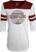 Image for the BLUE 84® SOUTHERN ILLINOIS SALUKIS WOMEN'S TRI-BLEND 3/4 SLEEVE  SHIRT product