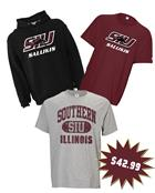 Image for the RUSSELL® SIU SALUKIS SPIRIT COMBO DEAL - BLACK HOODIE, MAROON T, AND GREY T  product