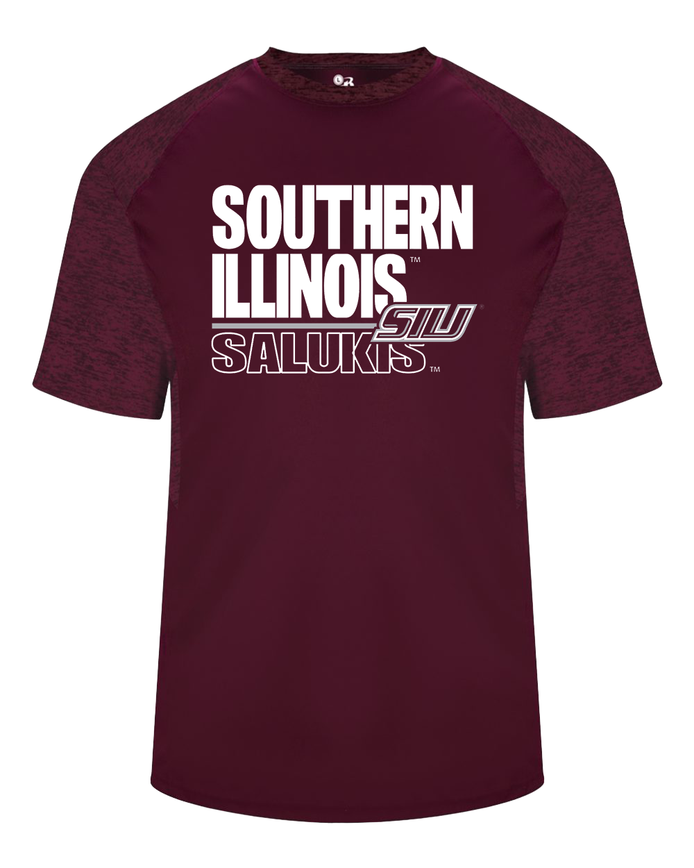 Image for the BADGER® SIU SALUKIS DRY-FIT TONAL BLEND PANEL T-SHIRT product