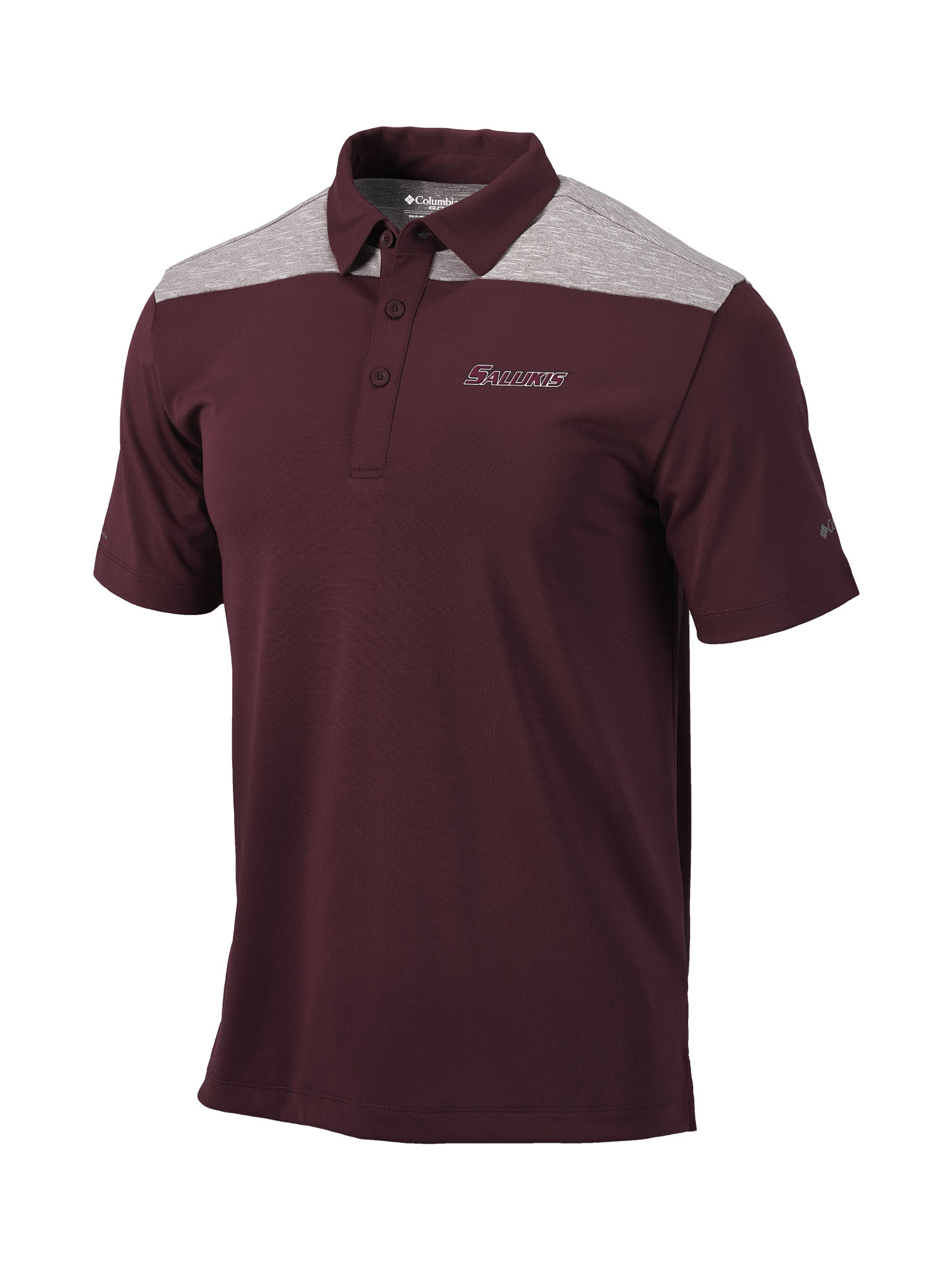 Image for the COLUMBIA® SALUKIS DUAL COLORED MAROON OMNI-WICK UTILITY POLO product