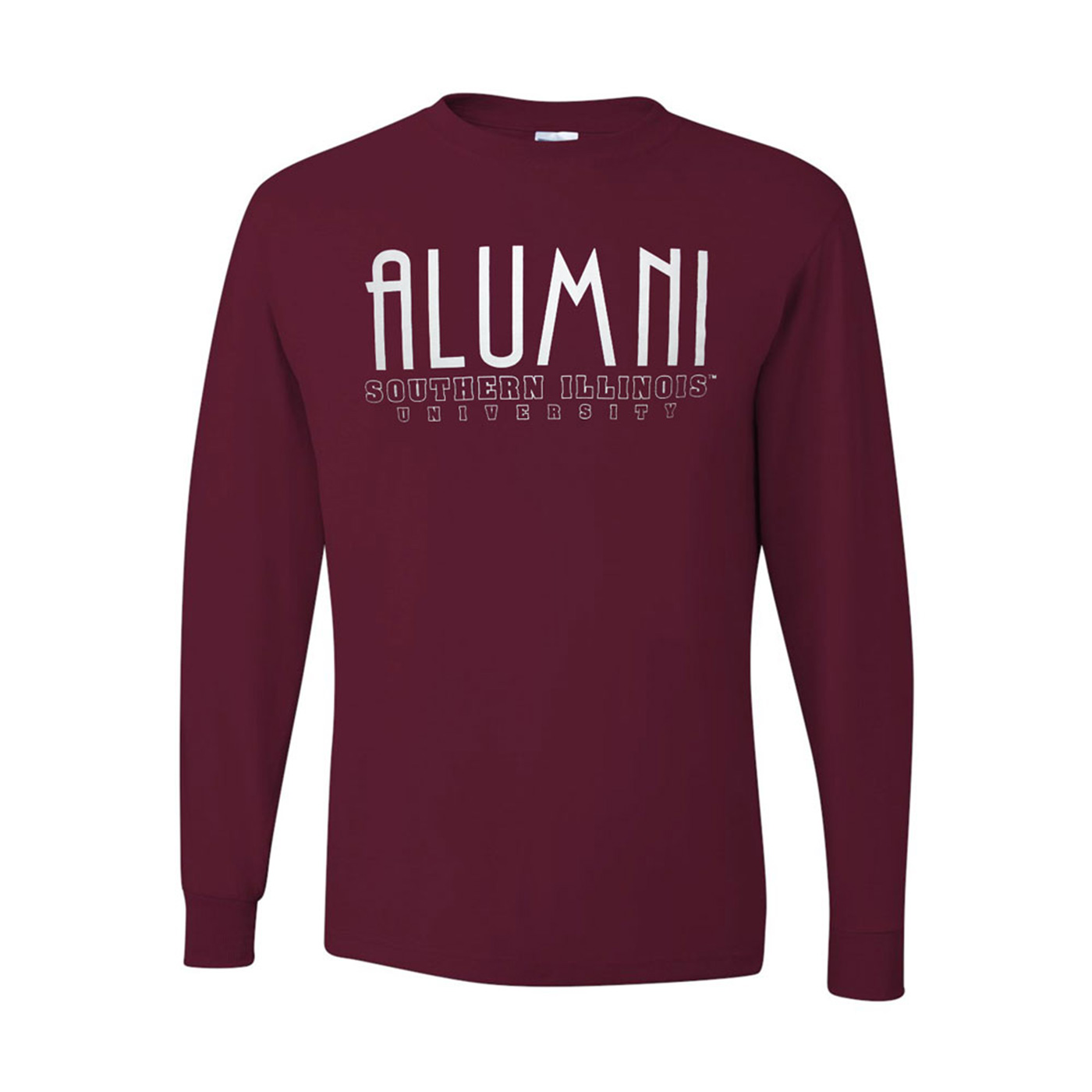 Image for the 710 BRANDED® SOUTHERN ILLINOIS ALUMNI SCRIPT LONG SLEEVE T-SHIRT product
