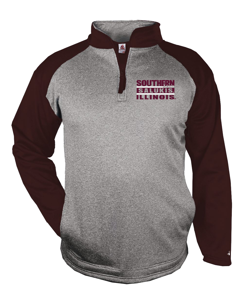 Image for the BADGER® SALUKIS PERFORMANCE TONAL FLEECE 1/4 ZIP product
