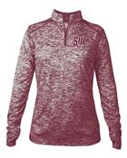 Image for the BADGER® SIU SALUKIS WOMEN'S BLEND 1/4 ZIP product