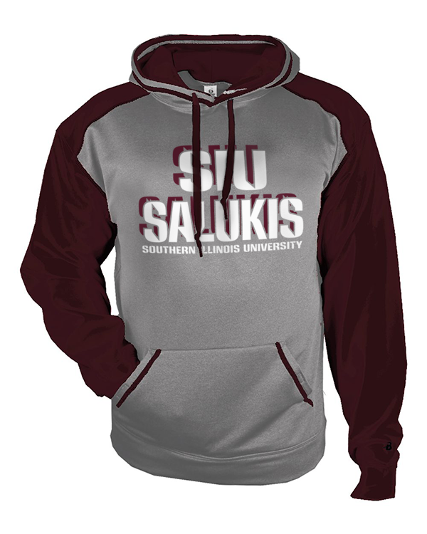 Image for the BADGER® SIU SALUKIS SPORT HEATHER HOOD product