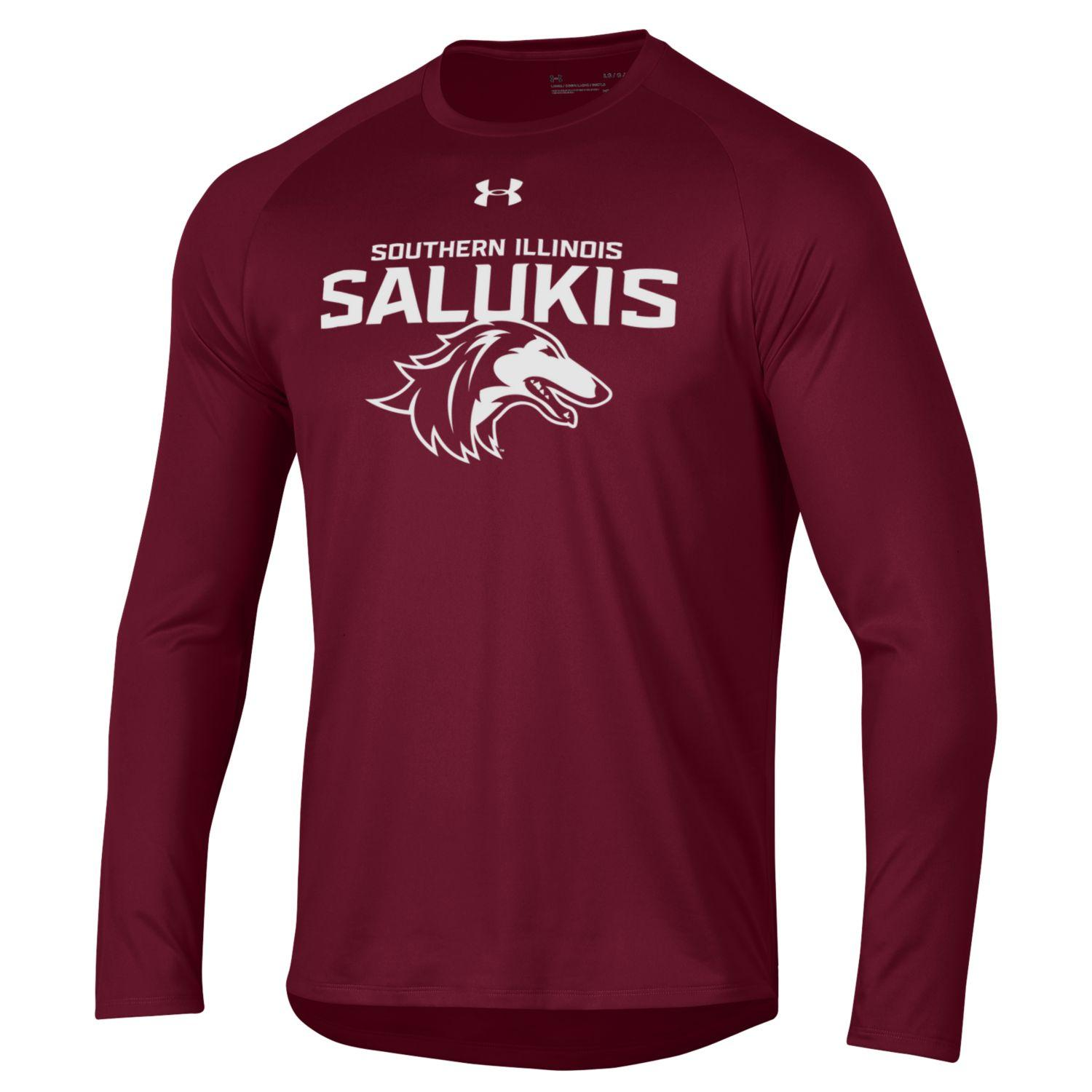 Image for the NEW 2019 ATHLETIC LOGO SOUTHERN ILLINOIS SALUKIS UNDER ARMOUR LONG SLEEVE TEE product