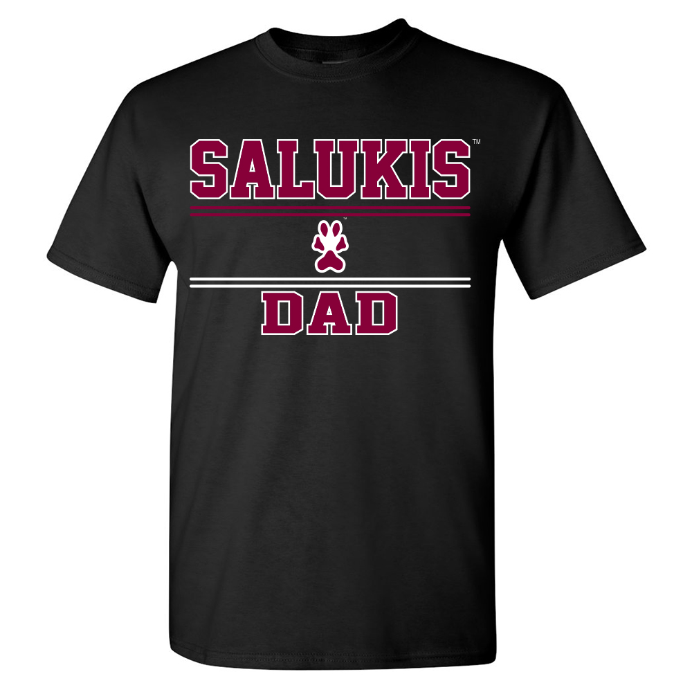 Image for the PROMO® SIU SALUKIS DAD BLACK T-SHIRT product