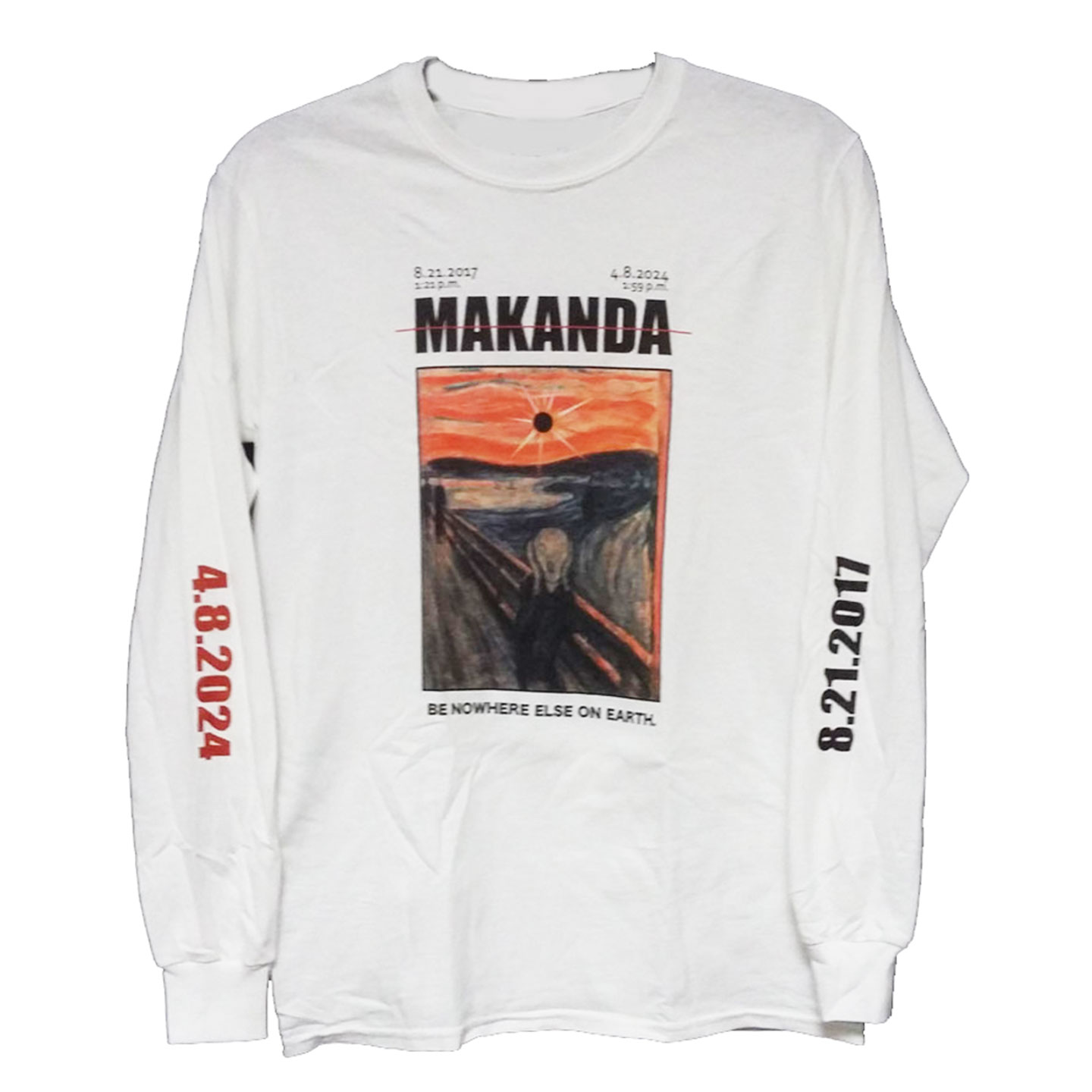 Image for the 710 BRANDED MAKANDA ECLIPSE WHITE LONG SLEEVE T-SHIRT product