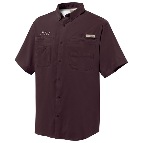 Image for the COLUMBIA® SIU MAROON PFG FISHING VENTED SHIRT product