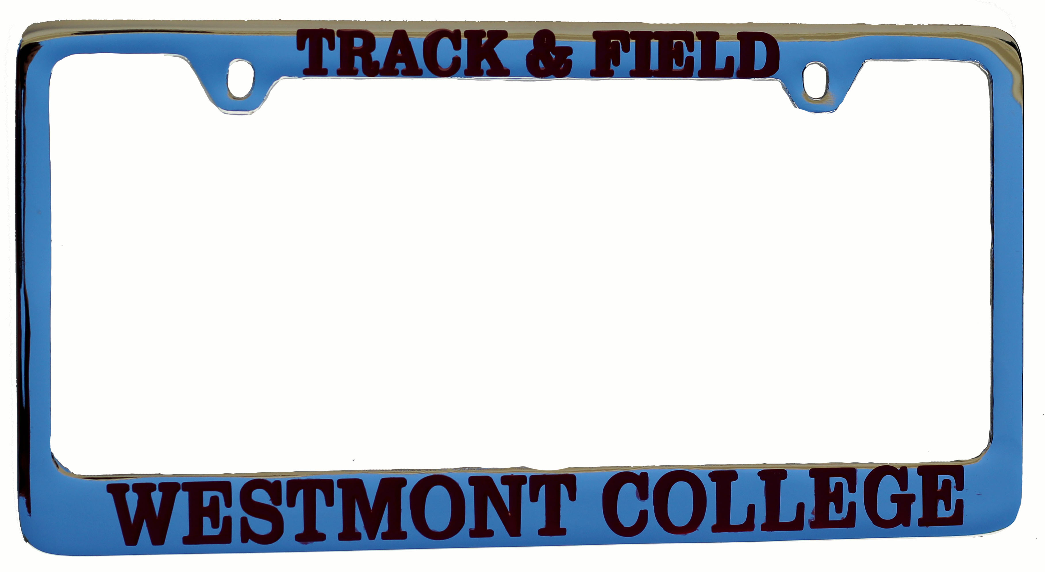 Image for the Track and Field Westmont License Plate Frame product