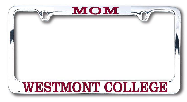 Image for the Mom Chrome License Plate Frame product