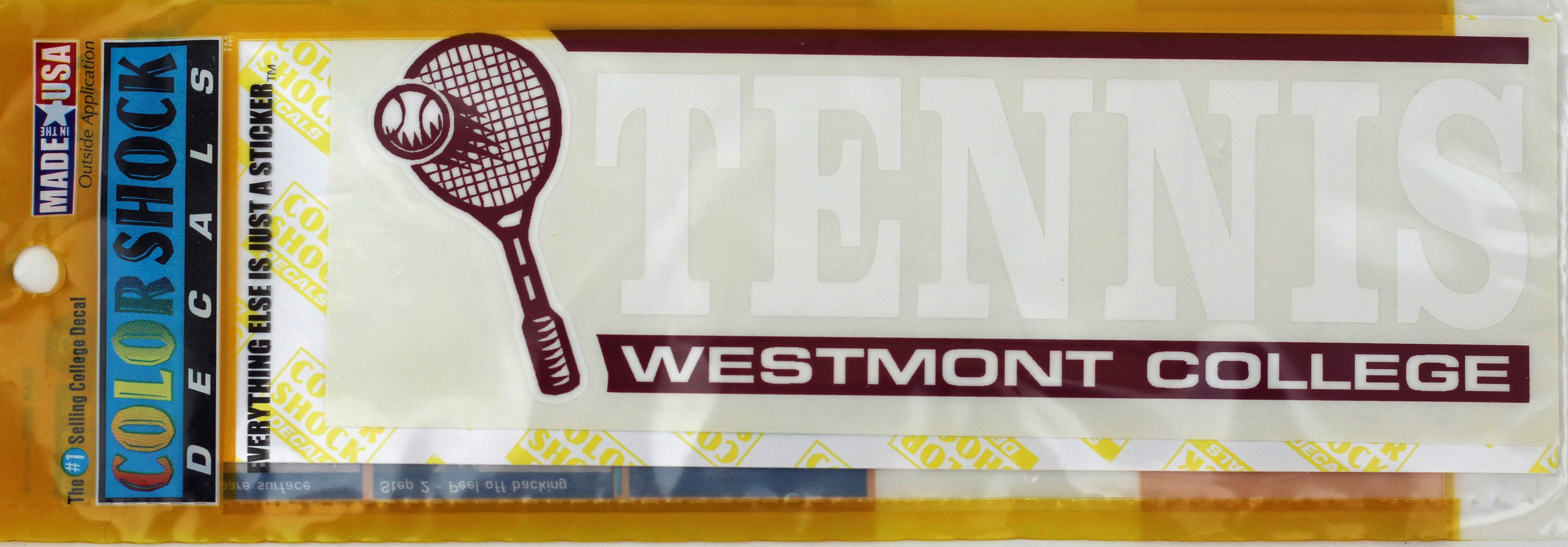 Image for the Color Shock Tennis Decal product